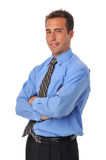Businessman wearing tie Stock Photography