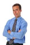 Businessman wearing tie Stock Photo