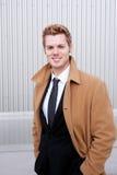Businessman wearing trenchcoat Stock Photo