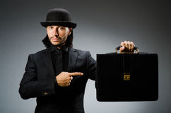 Businessman wearing vintage concept Stock Images