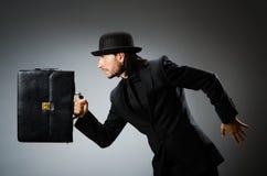 Businessman wearing vintage concept Stock Image