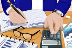 Businessman Solving Problems Vector Illustration Stock Image