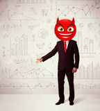 Businessman wears devil smiley face Royalty Free Stock Photography