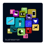 Businessman web icon Stock Photo