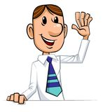 Businessman welcomes Stock Image