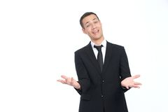 Businessman welcomes you Stock Image