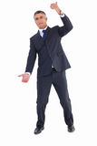 Businessman well dressed doing gesture Stock Photos