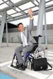 Businessman in wheelchair Royalty Free Stock Photo