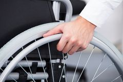 Businessman on wheelchair Royalty Free Stock Photography