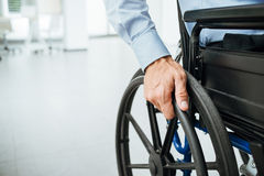 Businessman in wheelchair Stock Photography