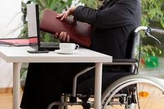 Businessman in wheelchair Royalty Free Stock Photos