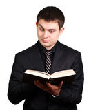 Businessman which reads book Stock Image