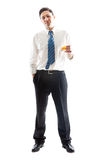 Businessman with whiskey Stock Photos