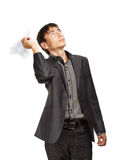 Businessman whit paper planes Stock Image