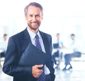 Businessman  on white bacground Royalty Free Stock Photos