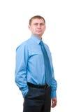 Businessman on white background Stock Image