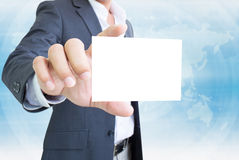 Businessman With White Note Royalty Free Stock Photography