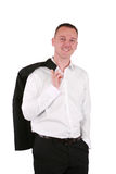 Businessman in white shirt Stock Photography