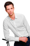 Businessman in a white shirt Royalty Free Stock Photos
