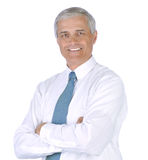 Businessman in White Shirt and Tie Royalty Free Stock Images