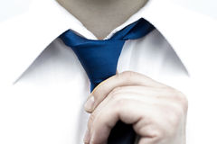 Businessman in white shirt. Stock Photography