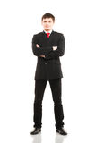 Businessman  on white Royalty Free Stock Photography