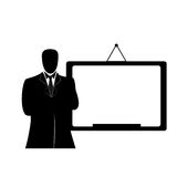 Businessman with whiteboard Royalty Free Stock Images