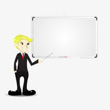 Businessman and whiteboard Stock Images