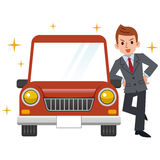 Businessman who bought a new car Royalty Free Stock Images