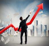 Businessman who has achieved success Stock Photos