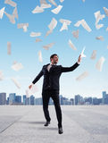 Businessman who has achieved success Stock Photo