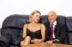 Businessman with wife Stock Photos