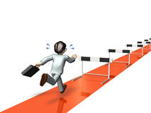 Businessman will challenge a lot of hurdles. Royalty Free Stock Photos