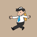 Businessman wind up1 Stock Images