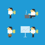 Businessman wind up Royalty Free Stock Photo