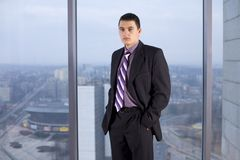 Businessman at the Window Royalty Free Stock Image