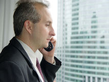 Businessman by the window stock images