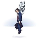 Businessman with wings Royalty Free Stock Photos