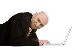 Businessman Winking Royalty Free Stock Image