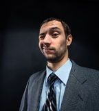 Businessman winking Stock Images