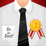 Businessman winner background Stock Photography