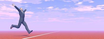 Businessman is winner - 3D render Royalty Free Stock Image