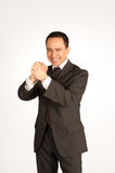 Businessman with winning gesture Royalty Free Stock Photo