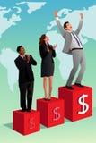 Businessman Winning or Success Concept Stock Photos
