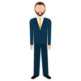 Businessman wit elegant suit over white background. Stock Photography