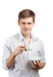Businessman With A Cup. Royalty Free Stock Photography