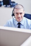 Businessman With A Headset Stock Images
