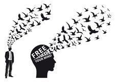 Free Businessman With Flying Birds, Vector Royalty Free Stock Photo - 66804485
