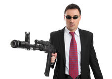 Businessman With Gun Royalty Free Stock Photography