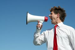 Free Businessman With Megaphone Royalty Free Stock Photos - 2254898